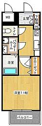 レジュールアッシュ梅田LUXE[12階]の間取り