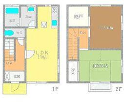 [テラスハウス] 神奈川県高座郡寒川町小谷1丁目 の賃貸【/】の間取り