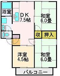 パラッツオ・KOTO A棟[103号室]の間取り