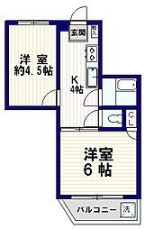 三田新中野コーポ[7階]の間取り