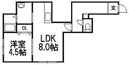 ラフィネ7[3階]の間取り