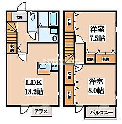 [テラスハウス] 大阪府堺市南区三原台4丁 の賃貸【/】の間取り