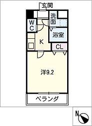 プリミエール矢田[3階]の間取り