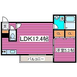 北海道札幌市北区篠路四条5丁目の賃貸アパートの間取り