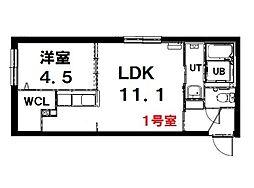 (仮称)北13条西15丁目MS 3階1LDKの間取り