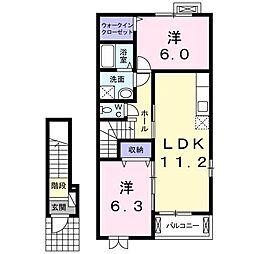 エスポワールT2[2階]の間取り