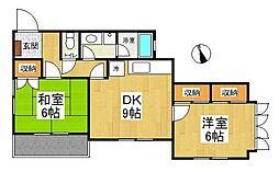 トレド原宿B棟[1階]の間取り