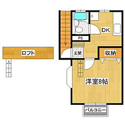 グリーンメゾン花室[2階]の間取り