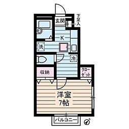 ハイツ・サン[1階]の間取り