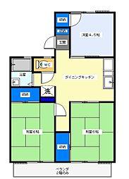 荒川沖駅 徒歩63分2階Fの間取り画像