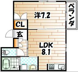 シャルム春街[1階]の間取り