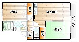 フローラ湯川 B棟[2階]の間取り