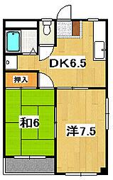 平成マンション[301号室]の間取り