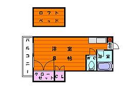 ケープ・ビレッジI[2階]の間取り