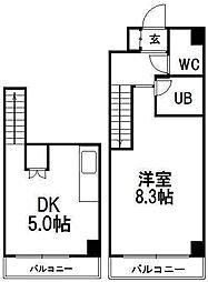 メープル北円山[2階]の間取り