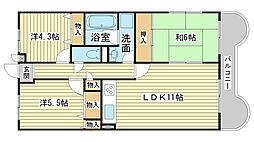 ライオンズマンション広畑正門通[304号室]の間取り