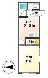 コーポ河合[2階]の間取り