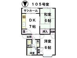ボノール金沢[105号室号室]の間取り