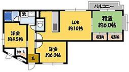 オオシマフラッツインパル[2階]の間取り