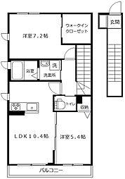 コートハウス笹下[203号室]の間取り