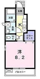 カトゥル セゾン[105号室]の間取り
