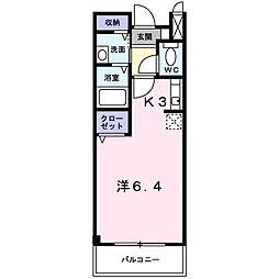 レフィナードK Ⅰ[2階]の間取り