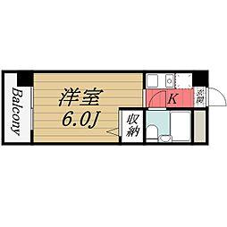 千葉県千葉市中央区要町の賃貸マンションの間取り