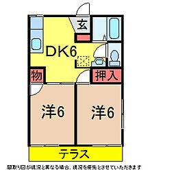 千葉県佐倉市弥勒町の賃貸アパートの間取り