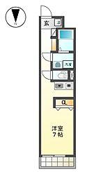 アソシエ黒川[4階]の間取り
