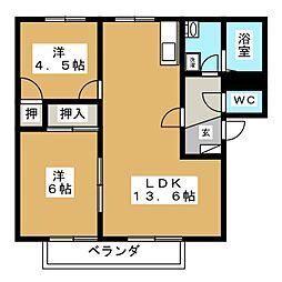 メゾンパークス D[2階]の間取り