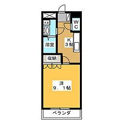 サンシャインヒルズ三井[1階]の間取り