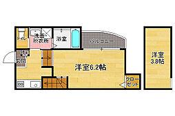 福岡県福岡市博多区諸岡3丁目の賃貸アパートの間取り
