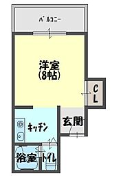 スクエアコート栄町[304号室]の間取り