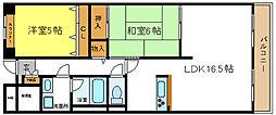ハンプトンコート[3階]の間取り