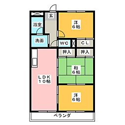 オークヒルズ[2階]の間取り