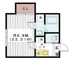 キャナルバンク千葉中央[2階]の間取り