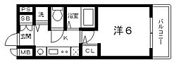 プレサンス上町台東平[3階]の間取り