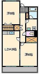 ユニバーサルマンションII[3階]の間取り