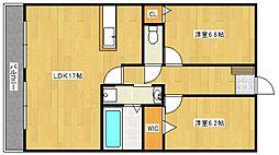 ルネスタナカ[3階]の間取り