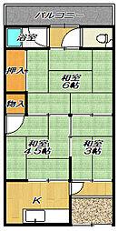 [テラスハウス] 大阪府四條畷市岡山2丁目 の賃貸【/】の間取り