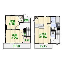 [テラスハウス] 東京都葛飾区西水元3丁目 の賃貸【/】の間取り