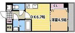 シャルマンフジ福島[2階]の間取り
