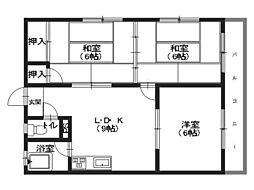 仲野マンション[3階]の間取り