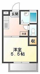 ソレイユ綾羽[1階]の間取り