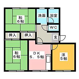 アメニティ八幡田A棟[1階]の間取り