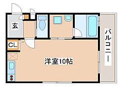 JR山陽本線 須磨駅 徒歩7分の賃貸アパート 2階ワンルームの間取り