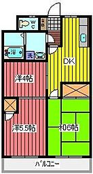 埼玉県川口市東領家1丁目の賃貸マンションの間取り