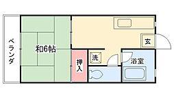 メゾンジュネス[2階]の間取り