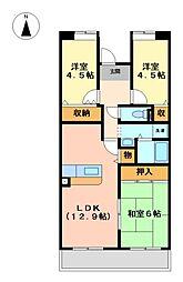アーバンラフレ志賀 9号棟[3階]の間取り