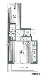 ライオンズプラザ新横浜[707号室]の間取り